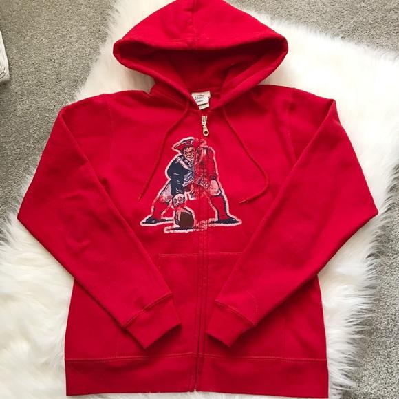 online store 4b832 7a317 New England Patriots Women's Zip Up Hoodie